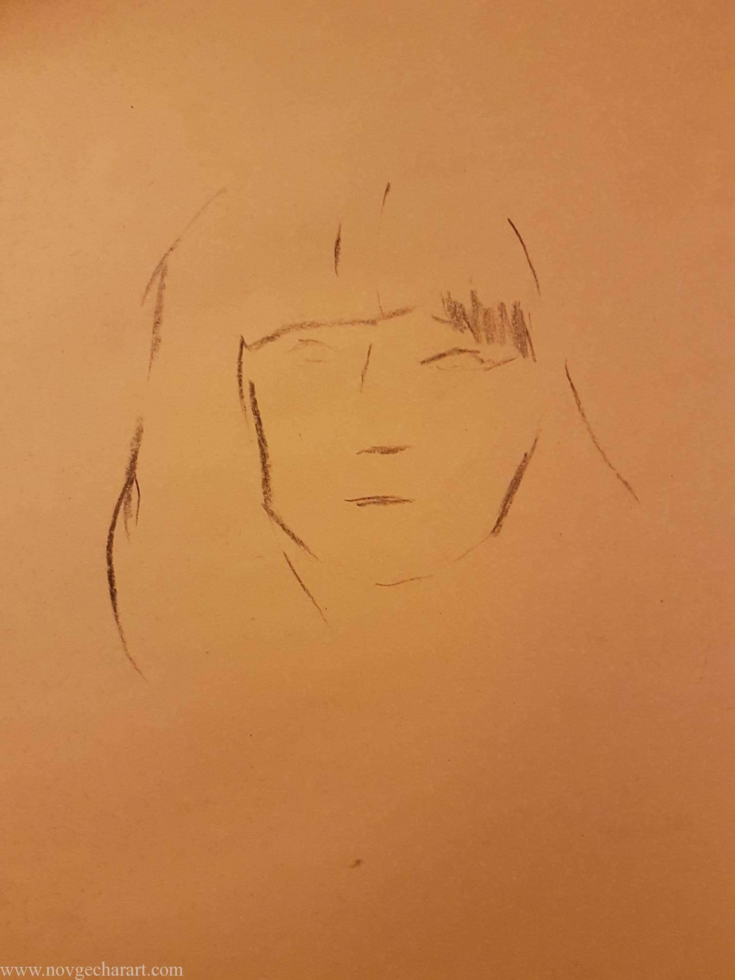 Draw Portrait of Girl