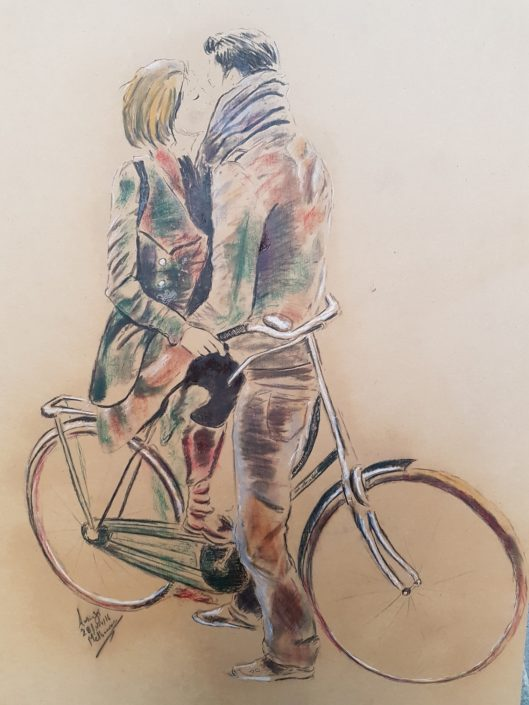 Portrait Drawing Melbourne Bicycle lovers