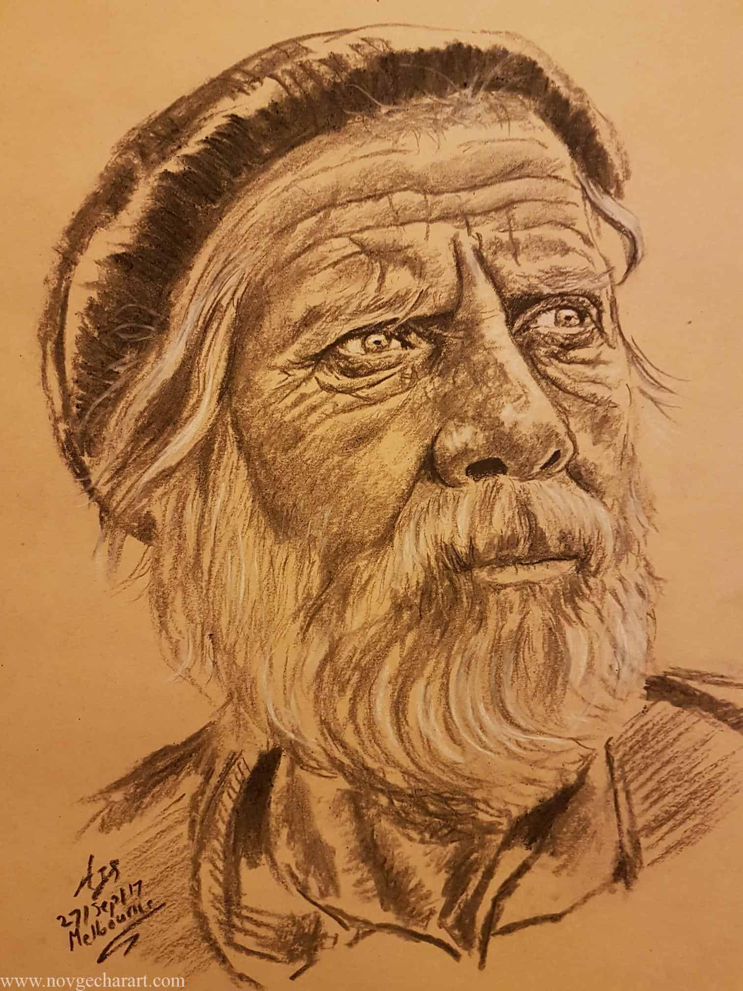 Portrait Drawing of Old man
