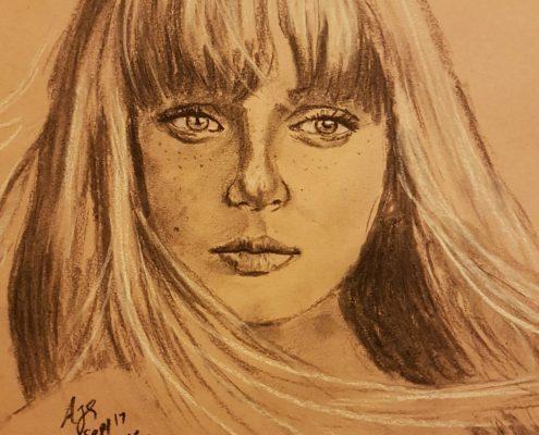 Portrait Drawing Melbourne Girl Sketch