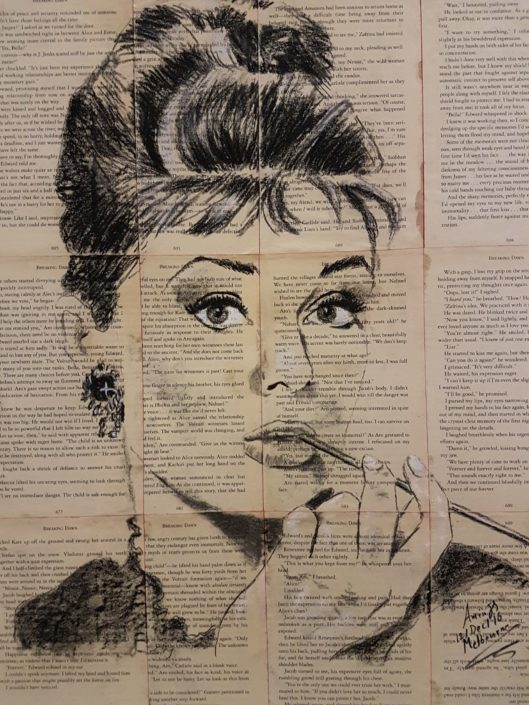Audrey Hepburn Portrait Drawing Melbourne Sketch Charcoal