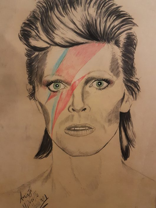 Portrait Drawing Melbourne David Bowie Portrait Sketch Charcoal