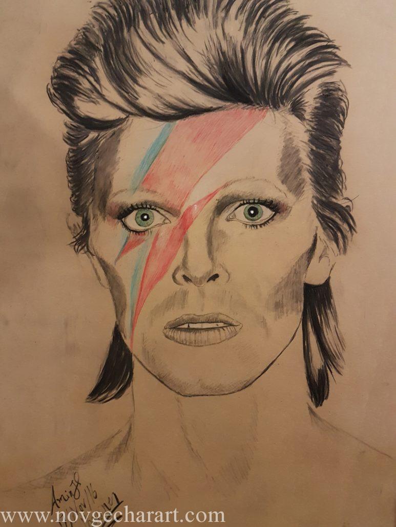 Portrait Drawing Melbourne David Bowie Portrait Sketch Charcoal