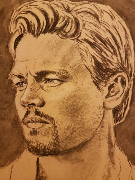 Portrait Drawing Melbourne Leonardo DiCaprio Sketch
